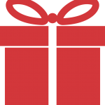 Red Color Gift Logo